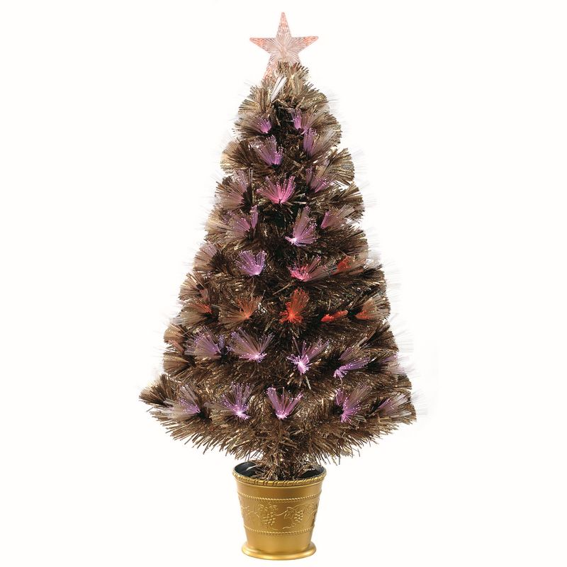 Hologram Christmas Tree Projector.Buy 90cm 3 Foot Rose Gold Holographic Fibre Optic