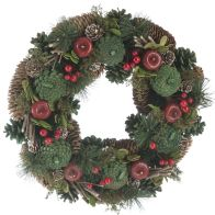 See more information about the Festive Berries & Apple Wreath Red 30cm
