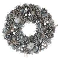 See more information about the Festive Frosted Pine Cone Wreath 30cm