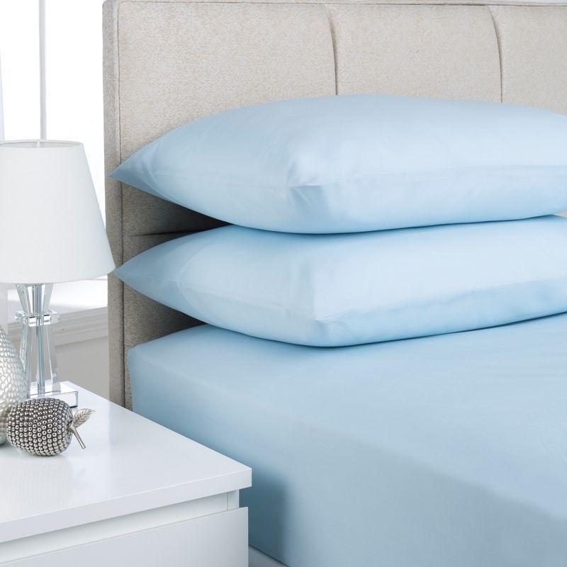 Buy Plain Dyed Single Bed Flat Sheet Ice Blue Online At Cherry Lane