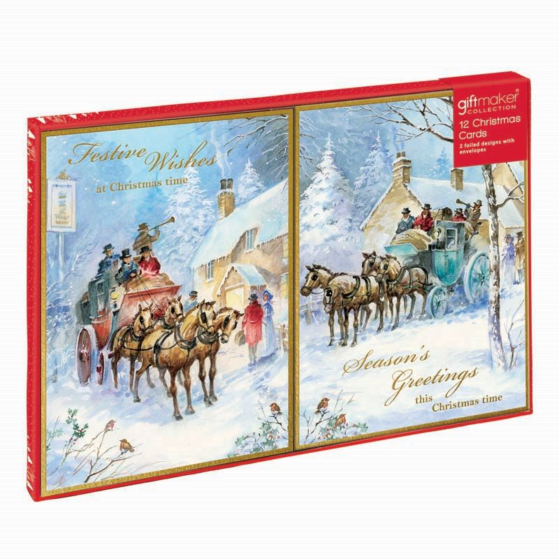 Buy Christmas Cards Coach & Horse - Online at Cherry Lane