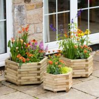 See more information about the Marford Hexagonal Garden Planter 3 Set