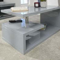 See more information about the Polar Coffee Table Grey 2 Shelf
