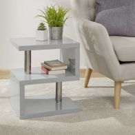 See more information about the Polar High Gloss LED Side Table - Grey