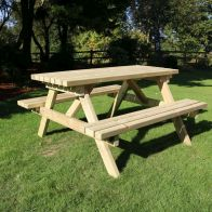 See more information about the Croft Deluxe 6 Seat 1.5M Rectangle Picnic Table