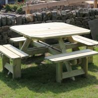 See more information about the Croft Westwood 8 Seat Square Picnic Table