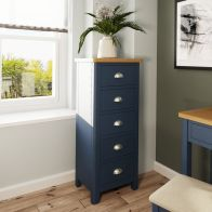 See more information about the Westbridge Light Oak & Blue 5 Drawer Chest Of Drawers