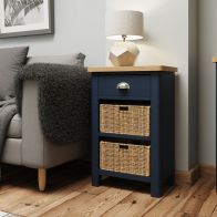 See more information about the Westbridge Light Oak & Blue 3 Drawer Chest Of Drawers