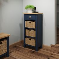 See more information about the Westbridge Light Oak & Blue 4 Drawer Chest Of Drawers