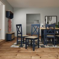 See more information about the Westbridge Light Oak & Blue Chair