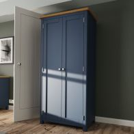 See more information about the Westbridge Light Oak & Blue 2 Door Wardrobe