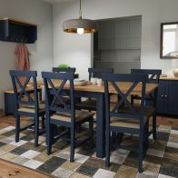 See more information about the Westbridge Light Oak & Blue Flip Top Dining Table
