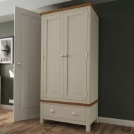 See more information about the Westbridge Light Oak & Dove Grey 2 Door 1 Drawer Wardrobe