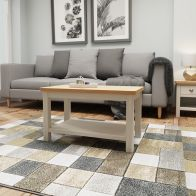 See more information about the Westbridge Light Oak & Dove Grey Coffee Table With 1 Shelf