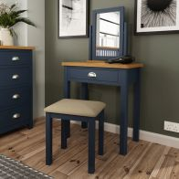 See more information about the Westbridge Light Oak & Blue Stool