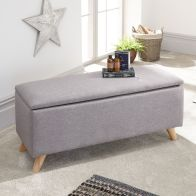 See more information about the Secreto Storage Ottoman Light Grey