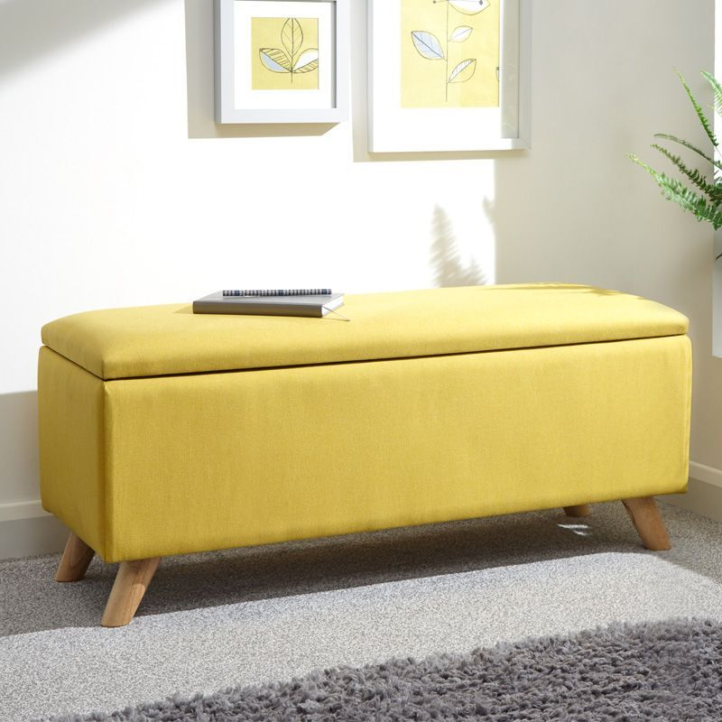 Cool Buy Secreto Storage Ottoman Yellow Online At Cherry Lane Pdpeps Interior Chair Design Pdpepsorg