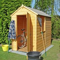 See more information about the Shire Shetland Shiplap Apex Garden Shed (6' x 4')