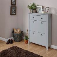See more information about the Deluxe Grey Two Tier Shoe Cabinet