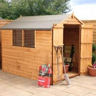 See more information about the Mercia Overlap Apex Garden Shed - Double Door (8' x 6')