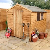 See more information about the Mercia Single Door Overlap Apex Garden Shed - With Windows (8' x 6')