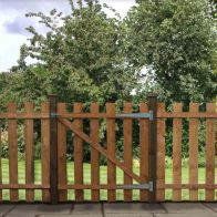 See more information about the Pallisade Garden Gate Flat Top Dipped H91cm W96cm