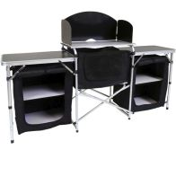 See more information about the Folding Kitchen Camping Large Storage Unit Portable Cooking