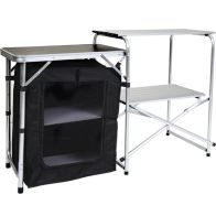 See more information about the Folding Kitchen Camping Stand Storage Unit Outdoor Cooking