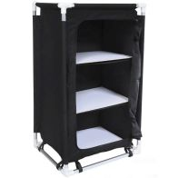 See more information about the Lightweight Folding Camping Tent Storage Cupboard - Black