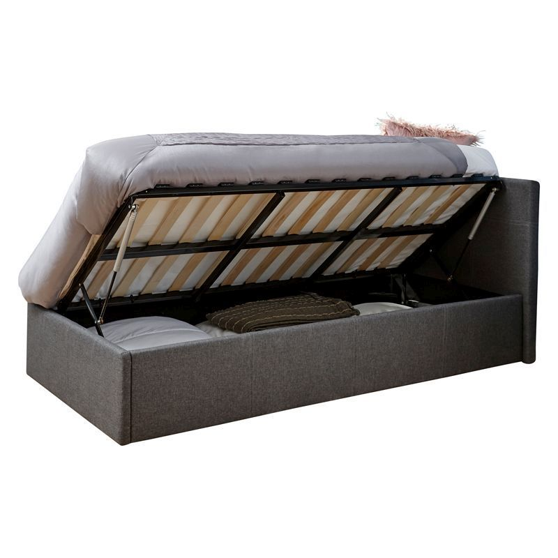 Buy Winston Side Lift Single Ottoman Bed Grey Online At