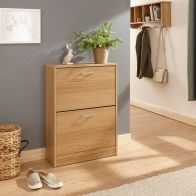 See more information about the Stirling Shoe Storage 2 Door Oak Style