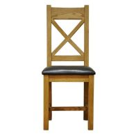 See more information about the Montacute Oak PU Crossback Dining Chair
