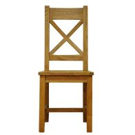 See more information about the Montacute Cross Back Dining Chair Oak