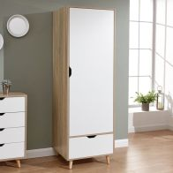 See more information about the Stockholm Wardrobe White 1 Door 1 Drawer