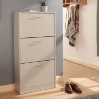 See more information about the Stirling Shoe Storage Grey 3 Door