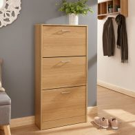 See more information about the Stirling Shoe Storage 3 Door Oak Style