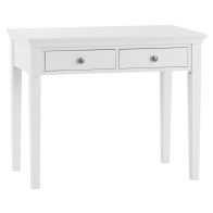See more information about the Swafield Dressing Table White & Pine 2 Drawer