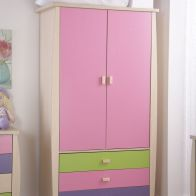 See more information about the Sydney Wardrobe Pink 2 Door 3 Drawer