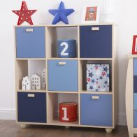 See more information about the Sydney Cube Bookcase Blue 5 Door 4 Shelf