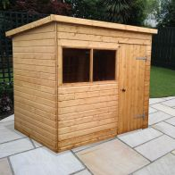 See more information about the Albany Sheds Major Pent 10' x 6' Pent Shiplap Wood Garden Shed