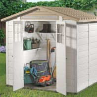 See more information about the Tuscany EVO 200 2 Double Door Apex Garden Shed