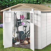 See more information about the Tuscany EVO 240 2 Double Door Apex Garden Shed