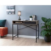 See more information about the Telford 1 Drawer Desk Dark Oak Styled