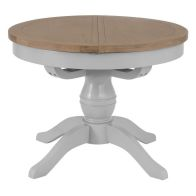 See more information about the Lighthouse Fixed Top Dining Table Grey & Oak 4 Seater
