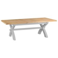 See more information about the Lighthouse Extending Dining Table Grey & Oak 6/8 Seater