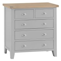 See more information about the Lighthouse Grey & Oak Chest Of 5 Drawers