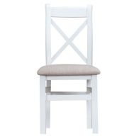 See more information about the Lighthouse Oak Top Crossback Chair Fabric - White