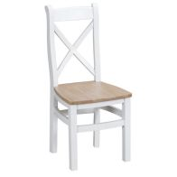See more information about the Lighthouse Cross Back Dining Chair Oak & White