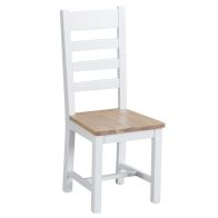 See more information about the Lighthouse Ladder Back Dining Chair Oak & White
