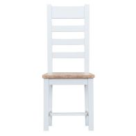 See more information about the Lighthouse Oak Top Ladder Back Dining Chair White